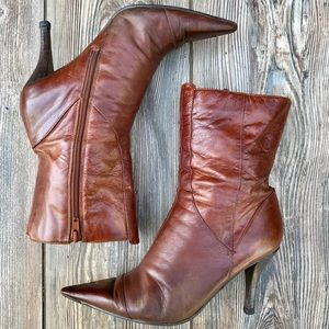 NINE WEST Nantes brown leather boots
